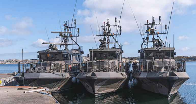FMV Delivers 5th Upgraded Tappe-class Patrol Boat to the Swedish Navy