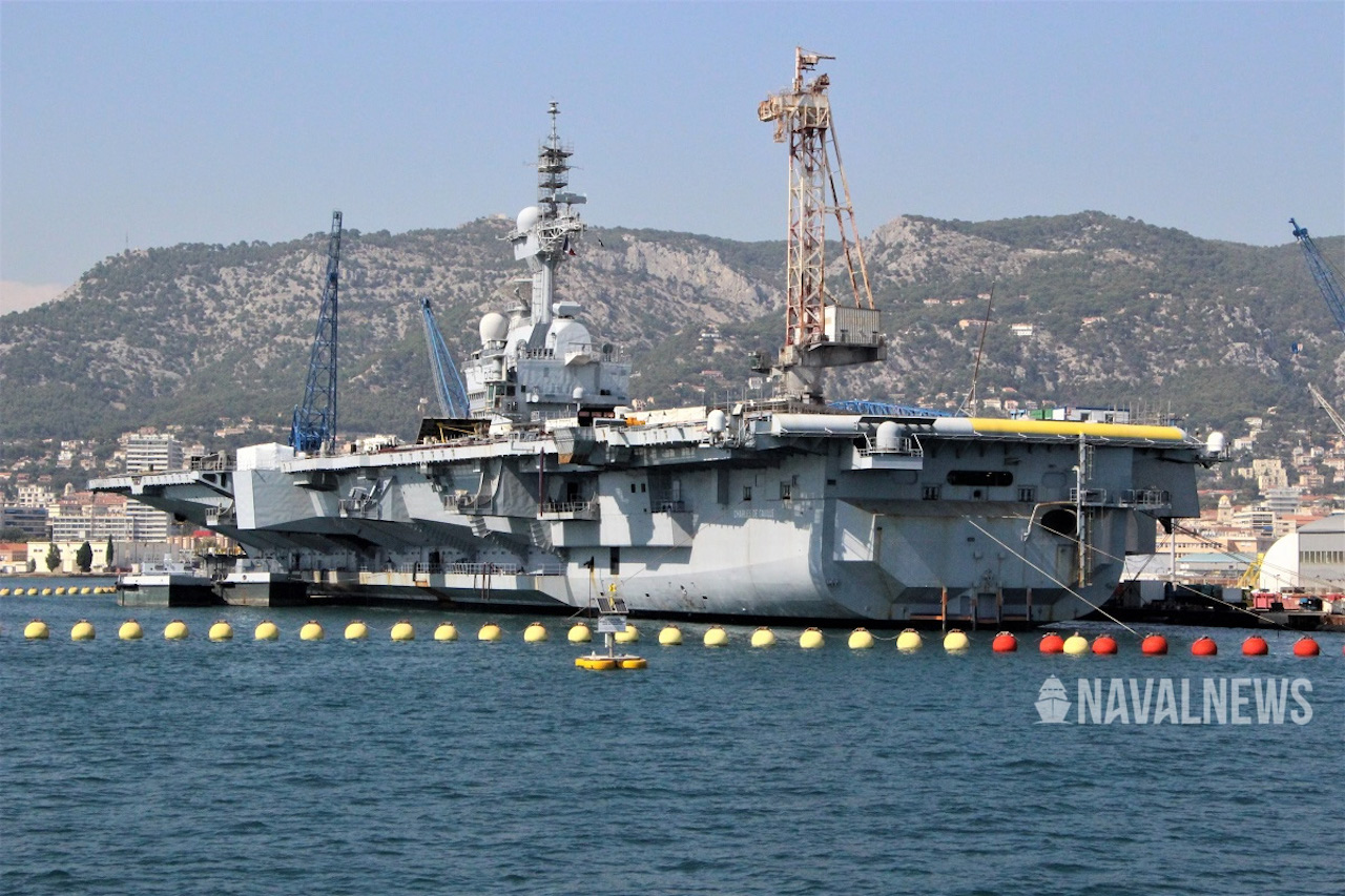 Charles de Gaulle carrier back at sea after COVID 19 adjustments.