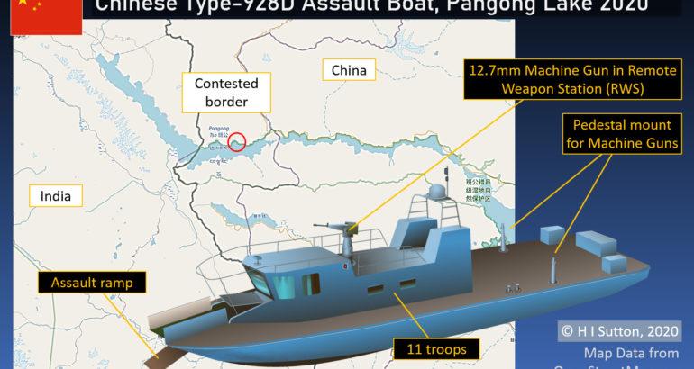 Chinese Type-928D assault boat deployed to Pangong Lake