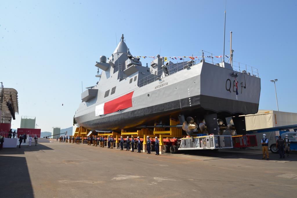 Fincantieri Launches First Offshore Patrol Vessel for Qatari Emiri Navy