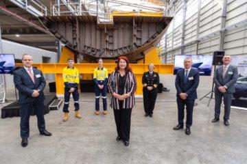 Keel Laid for Australia's third Arafura-class OPV