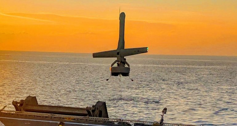 V-BAT VTOL ship deck landing