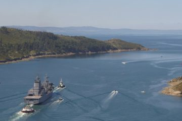 Royal Australian Navy's New Supply-class AOR Sails Home for Final Fit-Out