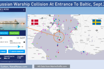 Russian Navy Warship Collides With Merchant Ship In Baltic