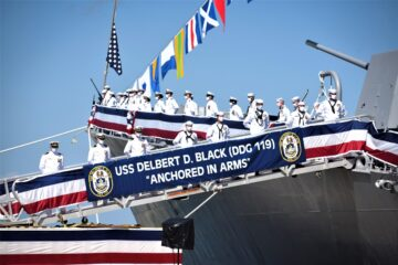 U.S. Navy Guided Missile Destroyer USS Delbert D. Black Joins the Fleet