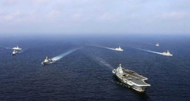 The PLAN aircraft carrier Liaoning battle group