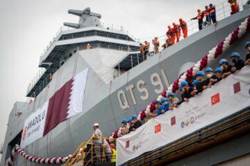 Anadolu Shipyard Launches First Training Ship for Qatari Navy