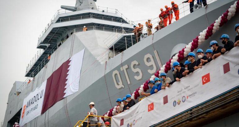 Anadolu Shipyard Launches First Training Ship for Qatar Navy