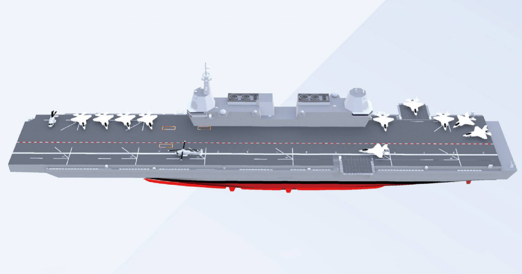 Early conceptual rendering of LPX-II light aircraft carrier program