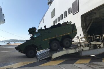 French Army's new Griffon Armored Vehicle Tested Aboard French Navy's Mistral LHD