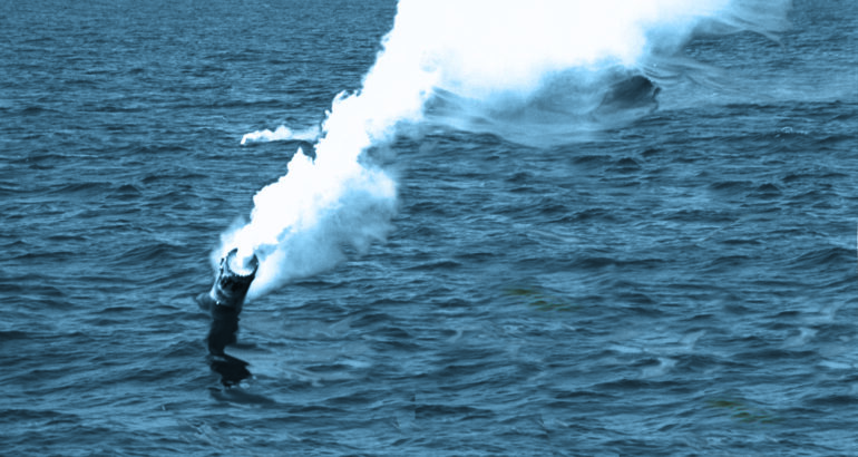 white smoke signals on water
