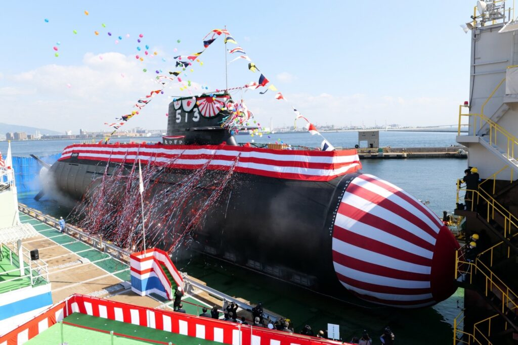 MHI Just Launched the First of the New Taigei-class Submarines for JMSDF