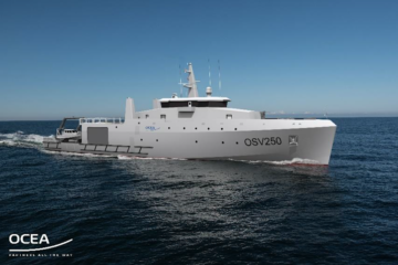 Euronaval: OCEA expands its range of vessels with the brand new OSV 250