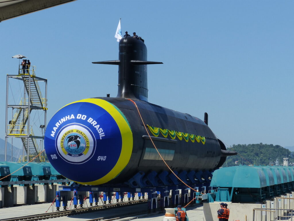 submarine just before launch
