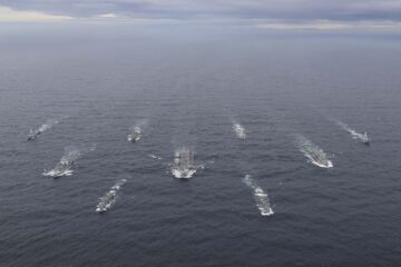 Royal Navy's new Carrier Strike Group assembles for the first time