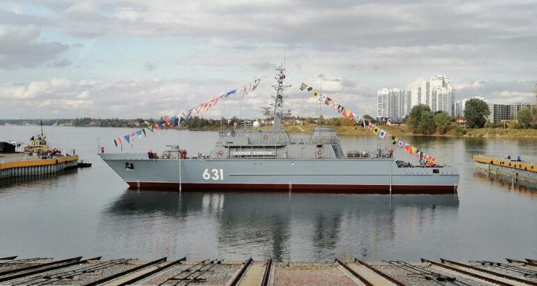 Sredne-Nevsky Shipyard Launches Project 12700 MCM Vessel 'Georgy Kurbatov'