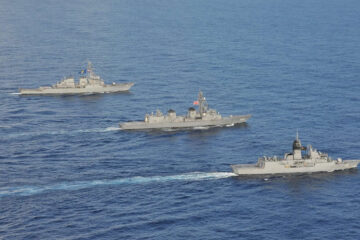 U.S., Japan, Australia Conduct Trilateral Naval Exercises in South China Sea