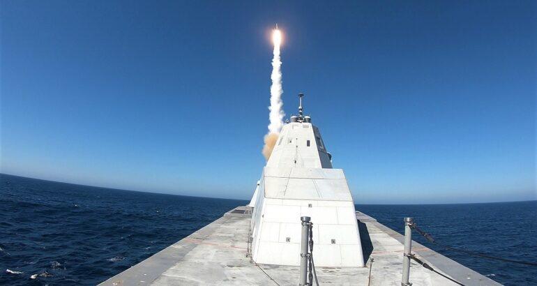 USS Zumwalt Successfully Completes First Standard Missile Shot