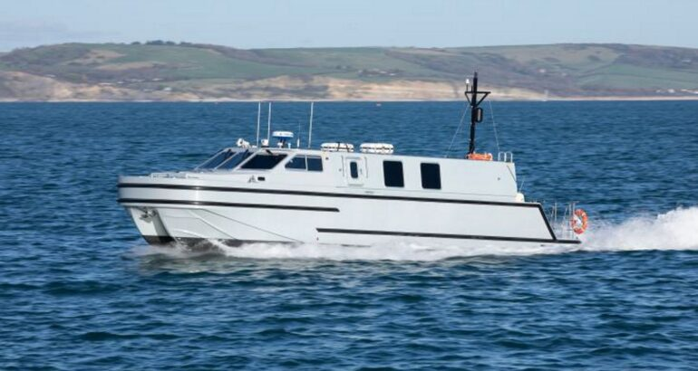 AEUK Delivers First 15m Officer Training Boat to the Royal Navy