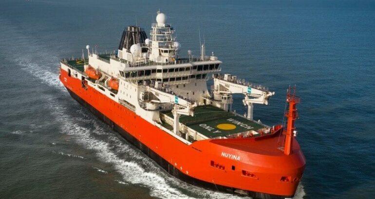 Australia's New Icebreaker RSV Nuyina Starts Sea Trials