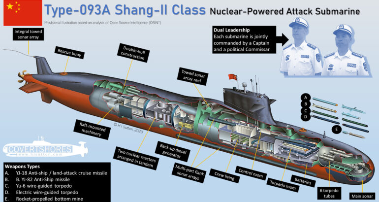 Cutaway of Chinese Navy Type-093A Submarine