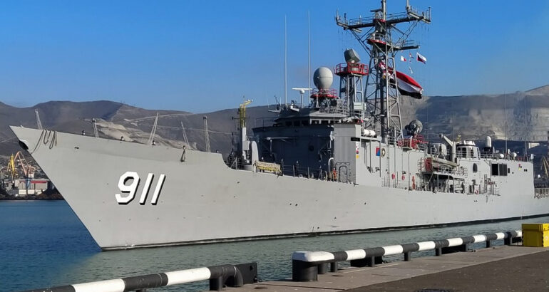 Egyptian Navy ships arrive in Russia's Novorossiysk to take part in joint drills