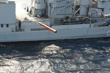 First Production Varunastra Heavyweight Torpedo Delivered to the Indian Navy