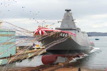 Japan's Mitsui E&S Launches 'Kumano' 「くまの」 New 30FFM Frigate for JMSDF