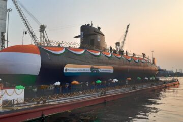 MDL Launches Fifth Scorpene-class Submarine for the Indian Navy