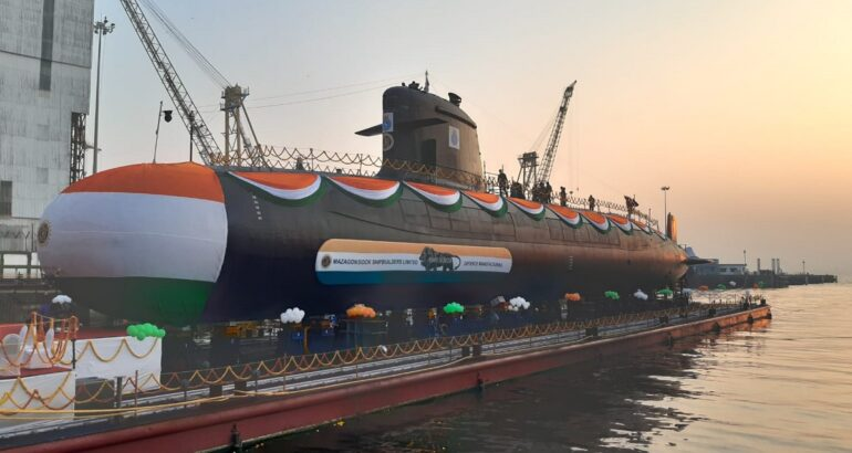 MDL Launches Fifth Scorpene-class Submarine for Indian Navy