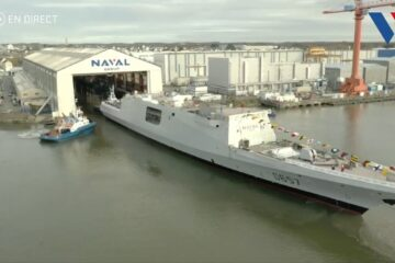 Photos: Naval Group Launches 'Lorraine', its Final FREMM Frigate