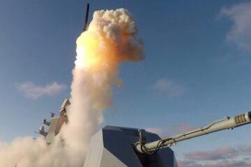 Russian Navy Frigate Admiral Kasatonov Test-Fires Kalibr Cruise Missile