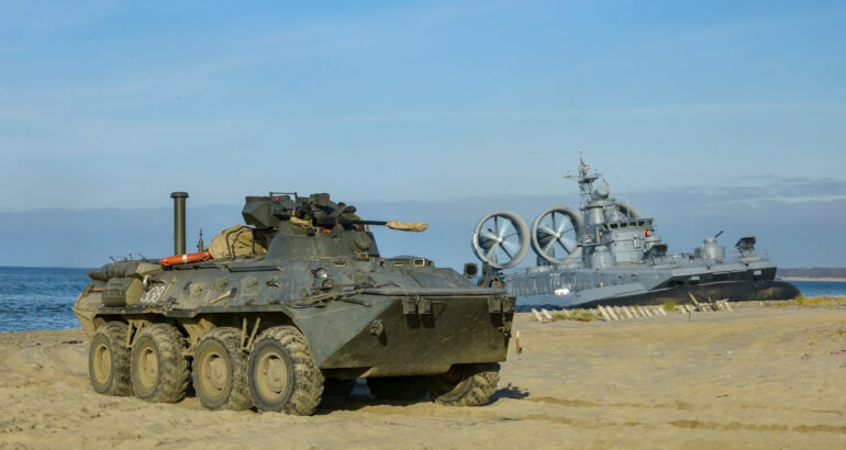 Russia's Zubr-class LCAC Practice Amphibious Assault in Baltic Sea