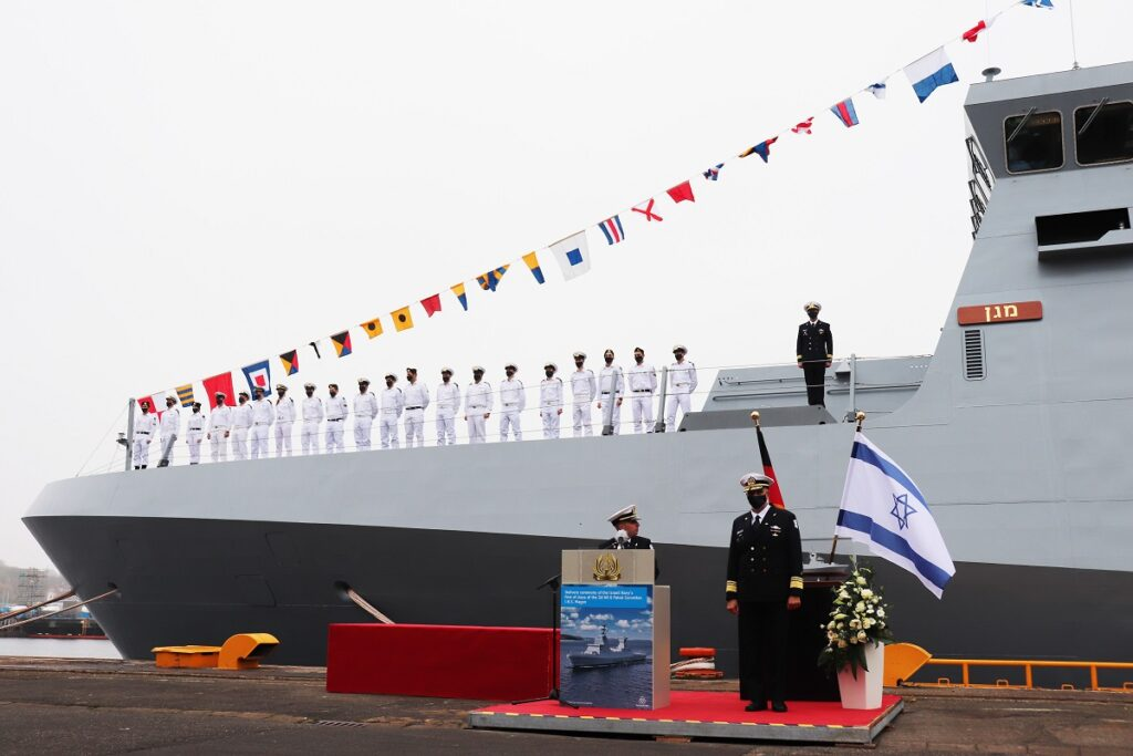 TKMS Hands Over SA'AR 6 Corvette 'INS Magen' to the Israeli Navy