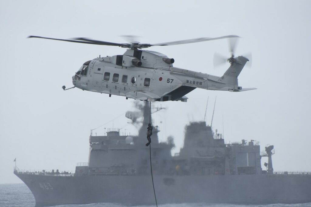 JMSDF mine countermeasures helicopters (MCH) 101