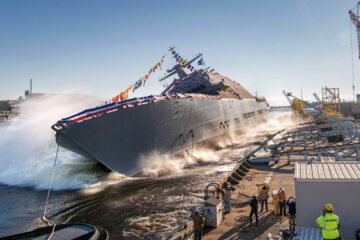 US Navy launches 13th Freedom-variant LCS – USS Marinette