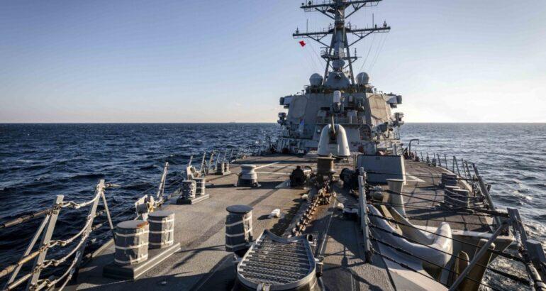 USS John S. McCain conducts Freedom of Navigation Operation near Russia