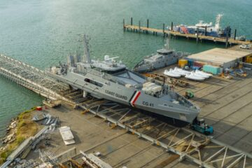 Austal launches first Cape-class patrol boat for Trinidad and Tobago Coast Guard