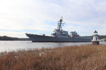 BIW-built Destroyer Daniel Inouye (DDG 118) Heads to Sea for Builder Trials