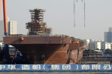 China's Third Type 075 LHD Taking Shape in Shanghai