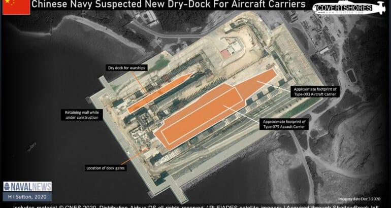 Chinese Navy dry dock, Hainan, South China Sea