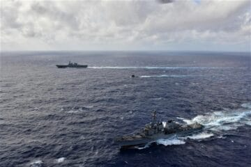French Navy Rubis-class SSN Trains with JMSDF and US Navy in Philippine Sea