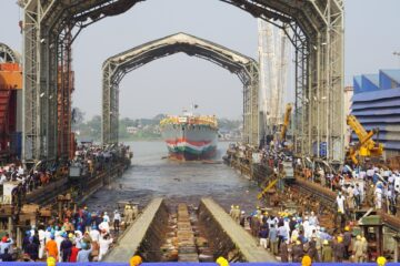Indian Navy's 2nd Project 17A Frigate 'Himgiri' Launched by GRSE