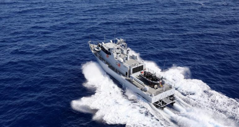 "Shaldag MK V FPB ""Lac Retba"" during sea trials."