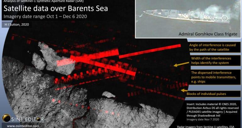 Radar Satellite imagery Russian Navy November 2020