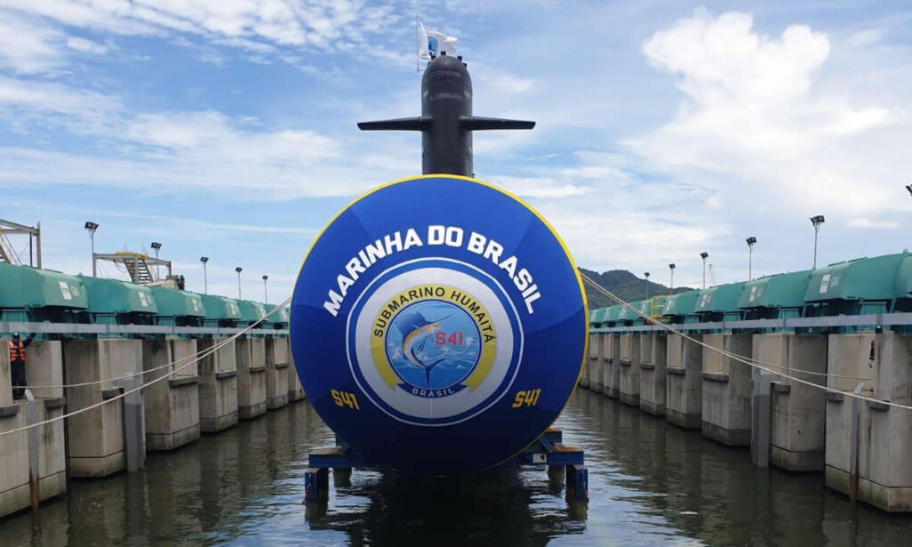 Second Scorpene Type Submarine 'Humaitá' Launched in Brazil