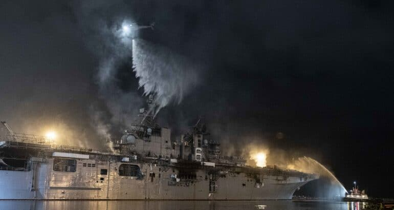 US Navy to Decommission and Scrap Fire-Damaged USS Bonhomme Richard