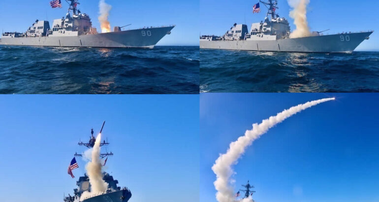 USS Chafee Conducts First Operational Test of Tomahawk Block V