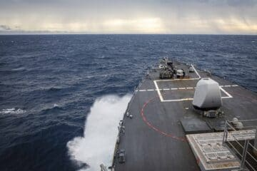 USS John S. McCain conducts FONOP in South China Sea