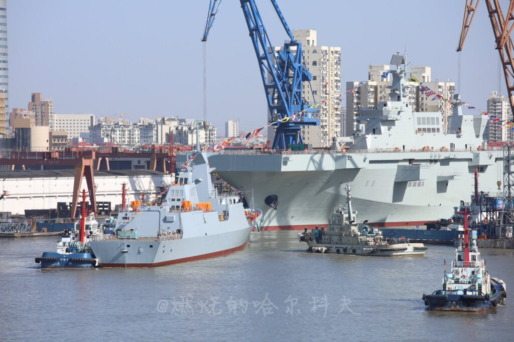 China Launches Type 054 A/P frigate for Pakistan and the third Type 075 LHD for the PLAN
